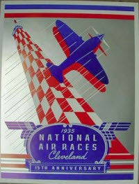 1935 NATIONAL AIR RACES 15TH ANNIVERSARY POSTER
