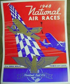 1948 NATIONAL AIR RACES 22ND ANNUAL POSTER