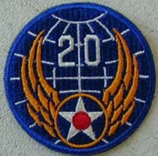 20TH AIR FORCE PATCH