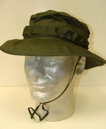 1969 US ARMY VIETNAM BOONIE HAT WITH INSECT NET MINT CONDITION