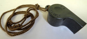 USAF/USN PILOT SURVIVAL KIT WHISTLE W/LANYARD 1971