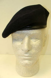 GENUINE FRENCH MILITARY BLUE WOOL BERET MINT CONDITION