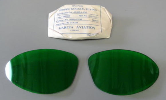 AN-6530/ B-7 SHATTERPROOF LENSES NEW IN WRAP- GREEN