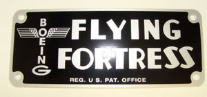 FLYING FORTRESS DATA PLATE (REPRO)