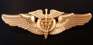USAAF GOLD FLIGHT SURGEON WINGS 3 INCH