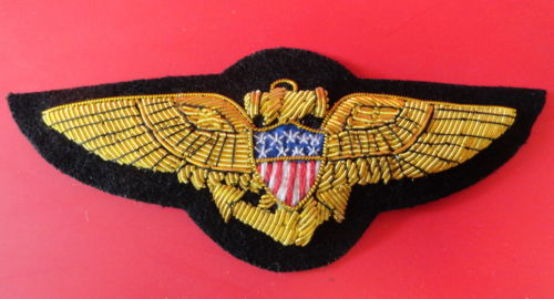 US NAVAL AVIATOR'S GOLD BULLION PILOT WING