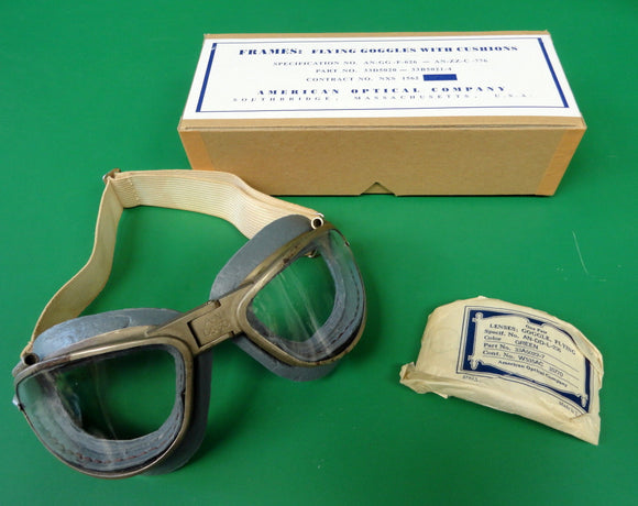 AMERICAN OPTICAL AN 6530 FLYING GOGGLES IN THE BOX