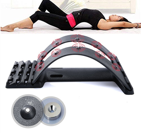 Magnet Massage Set Up Benches Back Stretcher Lumbar Support Acupuncture Device Posture Corrector for Back Pain Relief