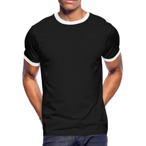 Men's Ringer T-Shirt - black/white