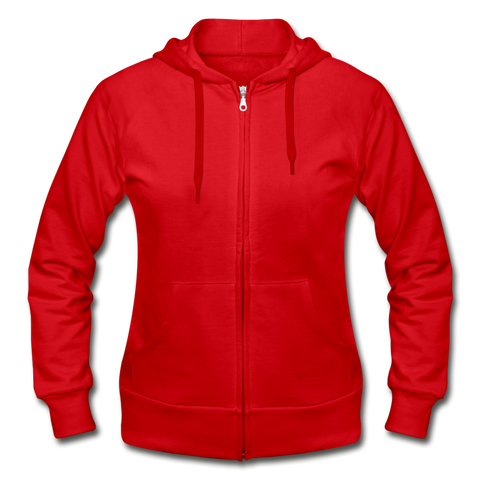Gildan Heavy Blend Women's Zip Hoodie - red
