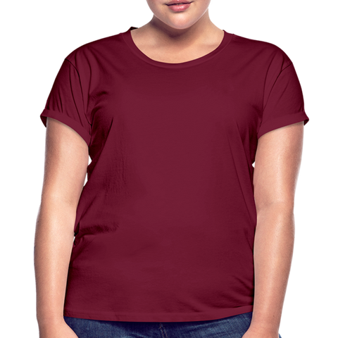 Women's Relaxed Fit T-Shirt - burgundy