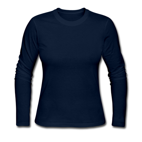 Women's Long Sleeve Jersey T-Shirt - navy