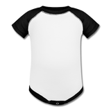 Baseball Baby Bodysuit - white/black