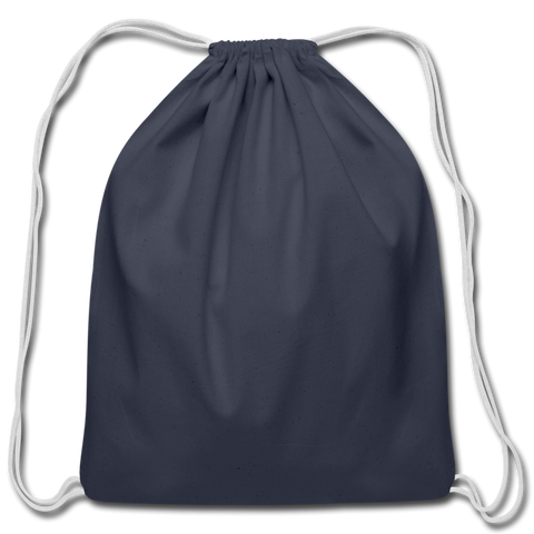 Cotton Drawstring Bag - navy