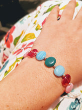 Load image into Gallery viewer, Multi-Colored Beaded Adjustable Bracelet set