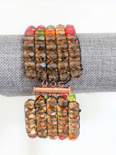 Load image into Gallery viewer, Czech Glass Beaded Bracelet - Autumn