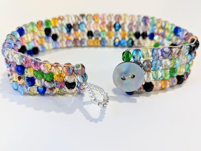 Czech Glass Beaded Bracelet - Mermaid's Tale