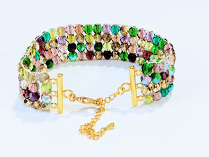 Czech Glass Beaded bracelet -  The Vineyard