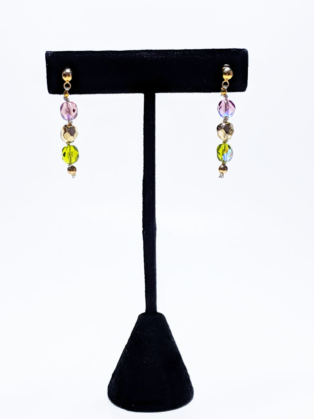 Czech Glass Bead Earrings - The Vineyard