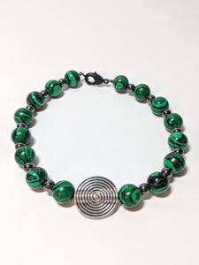 Malachite and Hematite Bracelet