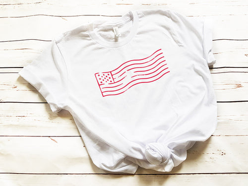 Stamped Flag Unisex T-Shirt