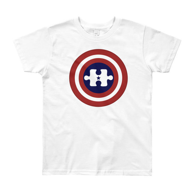 Captain America Autism Hero Youth (8-12 YR) T-Shirt
