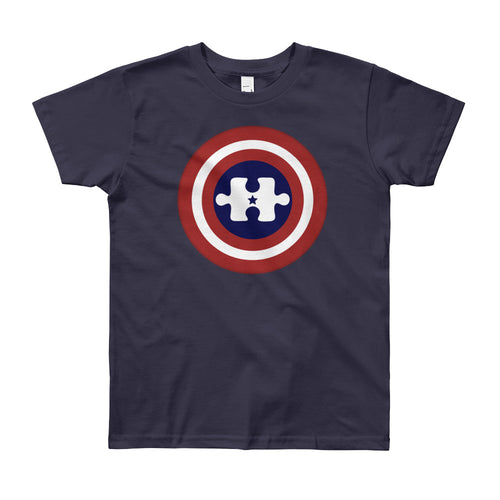 Wear this Captain America Hero Autism Awareness Hero t-shirt.