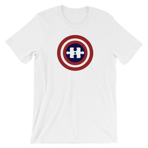 Captain American Autism Hero Unisex T-Shirt