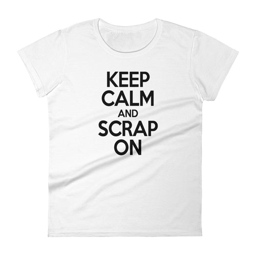 Keep calm and scrap on white t-shirt