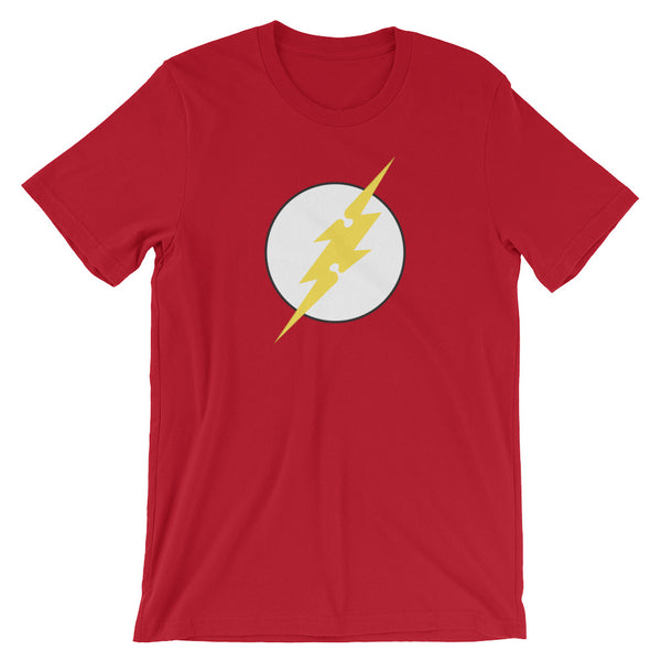 Wear this red Flash Hero Autism Awareness Hero t-shirt.