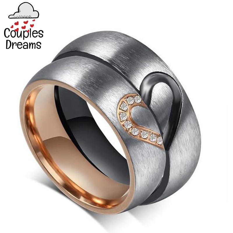 His & Hers Heart Ring