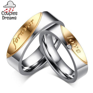 """Love Forever"" Couple Rings"
