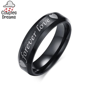 """Forever Love"" Couple Rings"