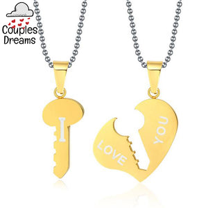 Key To My Heart Couple Necklace