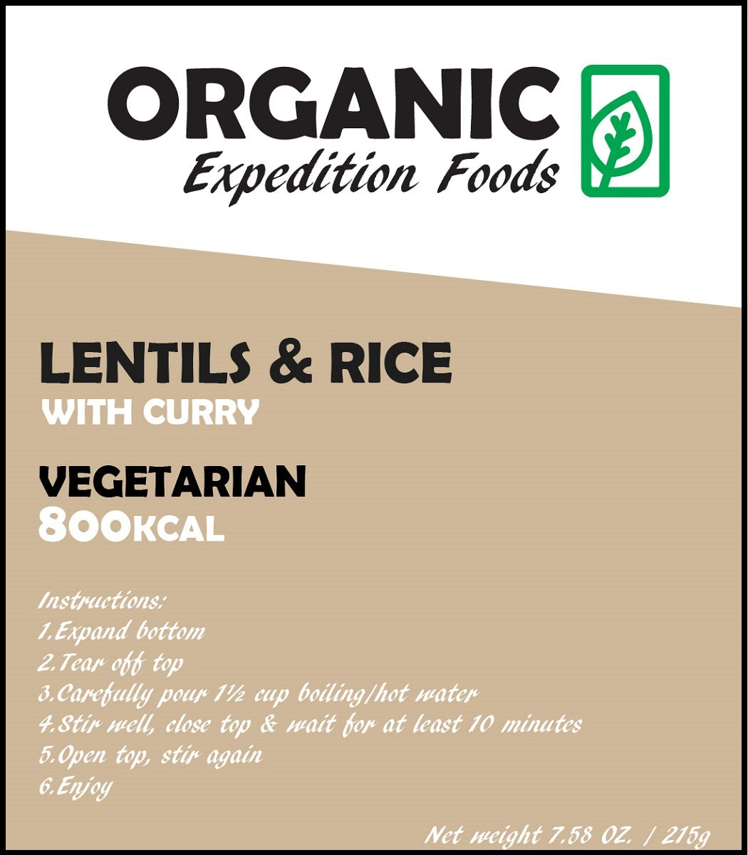 LENTILS & RICE with Curry - 400 or 800kCal