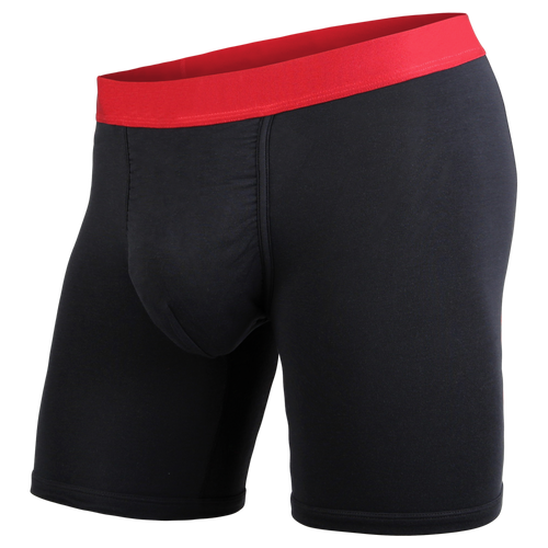CLASSIC BOXER BRIEF LITE: BLACK/CRIMSON