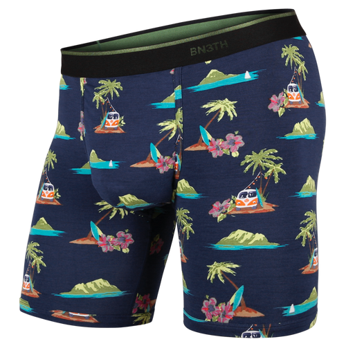 CLASSICS BOXER BRIEF: ALOHA NAVY