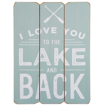 Sign Love You to the Lake and Back