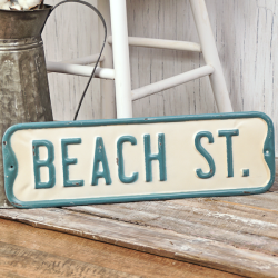 Street Sign Beach St