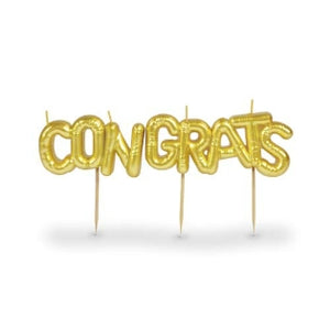 "Party Candles ""Congrats"""