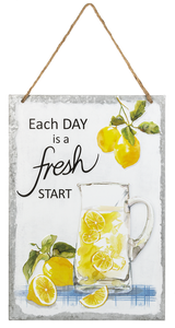 Each Day is a Fresh Start sign tin