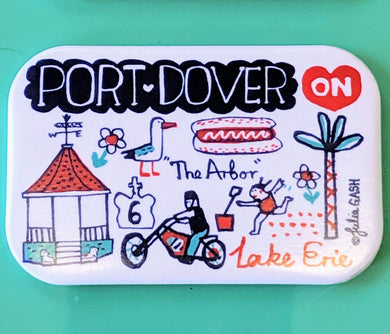 Magnet with Motorbikes Port Dover Cityscape