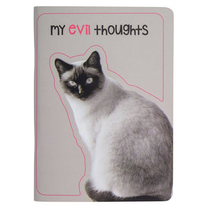 Pocket Notebook Evil Thoughts Cat