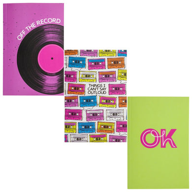 Notebook set of 3 Record