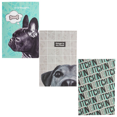 Notebook Set of 3 Dogs