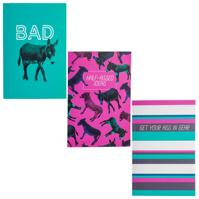Notebook set of 3 Donkey