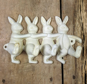 Row of Bunnies Wall Hook