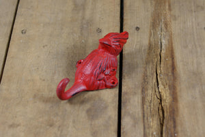 Cast Iron Red Cardinal Wall Hook