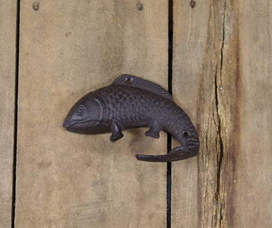 Large Cast Iron Fish-Shaped Hook