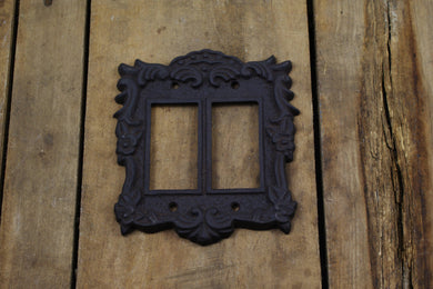 Cast Iron Double Rocker or Paddle Light Switch Plate